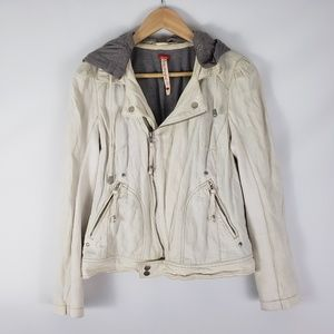 Free People // Cotton Moto Hooded Jacket